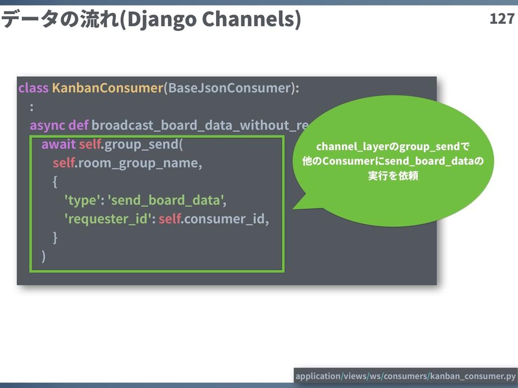 127 データの流れ(Django Channels) class KanbanConsume...