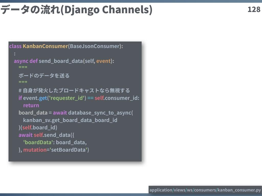 128 データの流れ(Django Channels) class KanbanConsume...
