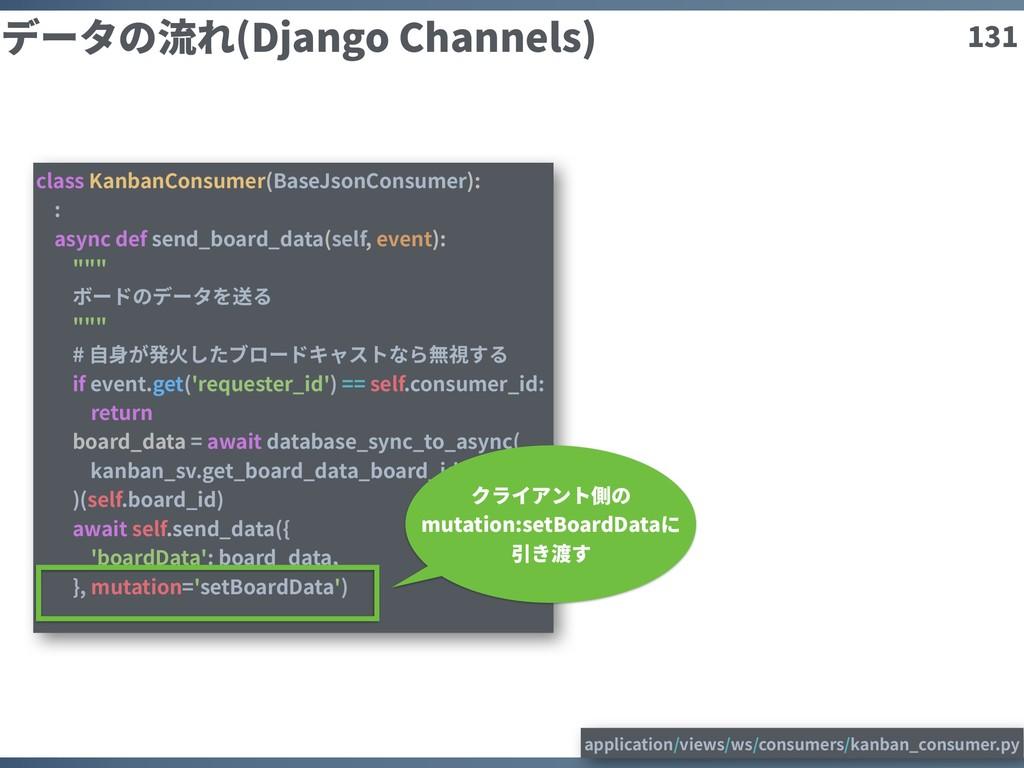 131 データの流れ(Django Channels) class KanbanConsume...