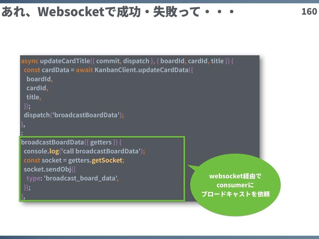 160 あれ、Websocketで成功・失敗って・・・ async updateCardTit...
