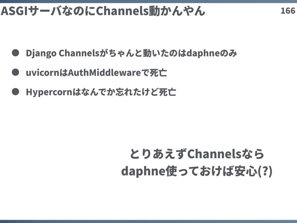 166 ASGIサーバなのにChannels動かんやん Django Channelsがちゃん...