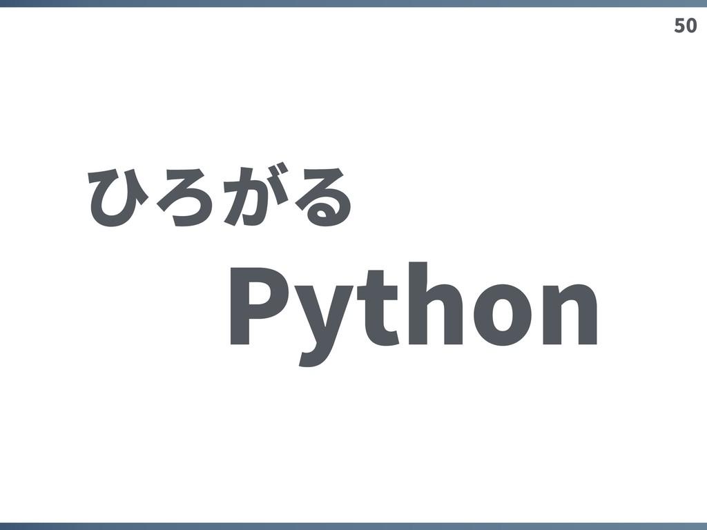 50 ひろがる Python