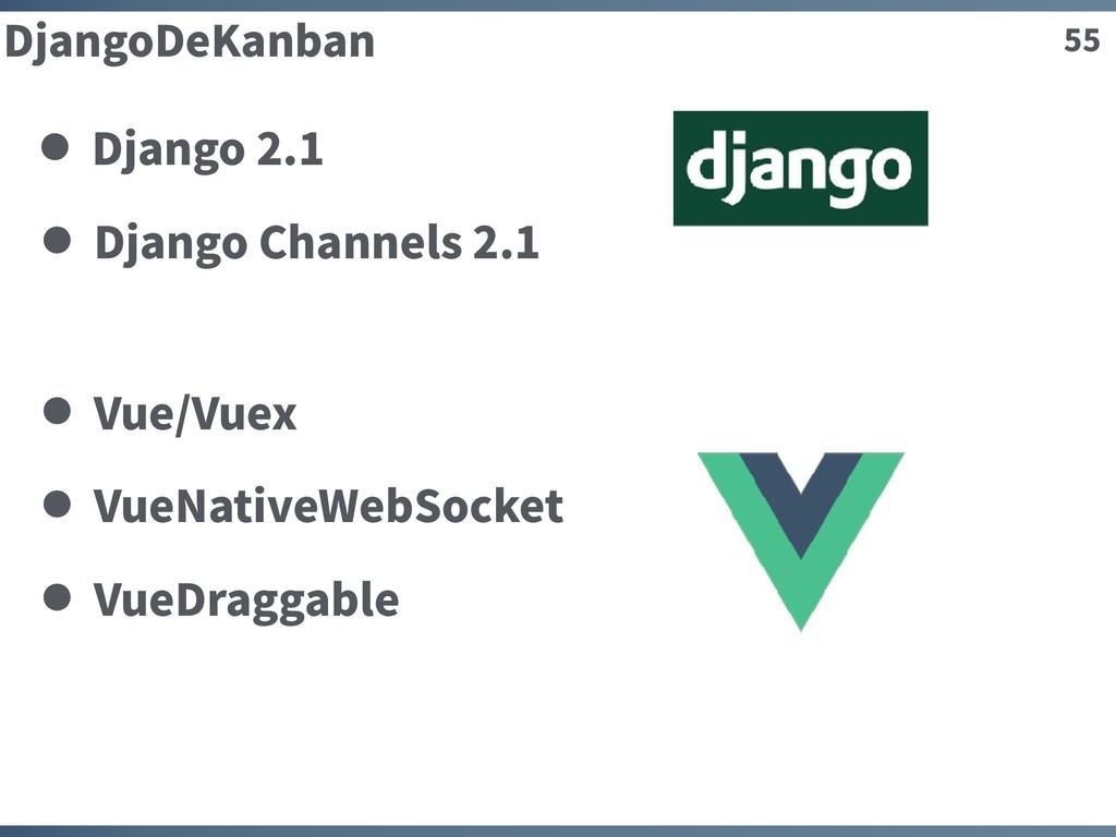 55 DjangoDeKanban Django Channels 2.1 Vue/Vuex ...