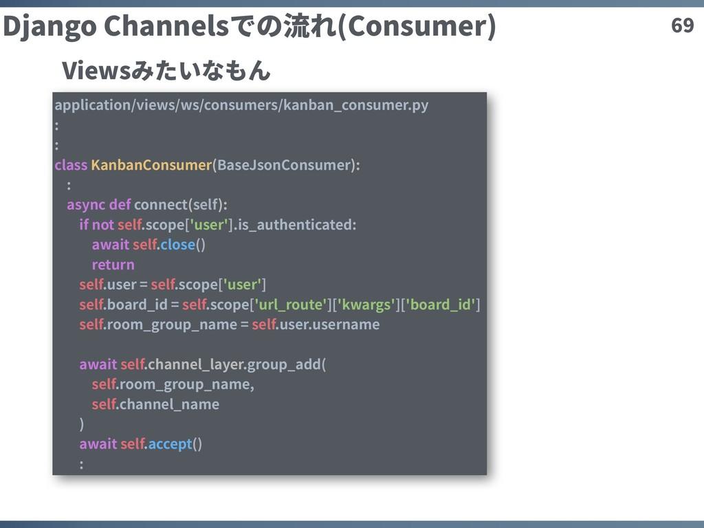 69 Django Channelsでの流れ(Consumer) application/vi...