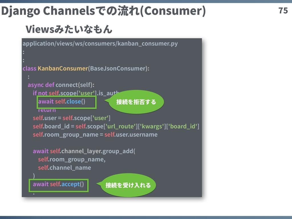 75 Django Channelsでの流れ(Consumer) application/vi...