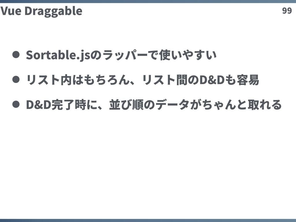 99 Vue Draggable Sortable.jsのラッパーで使いやすい リスト内はもち...
