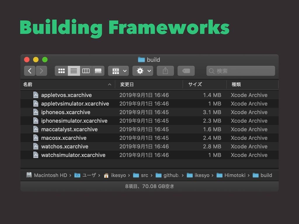 Building Frameworks