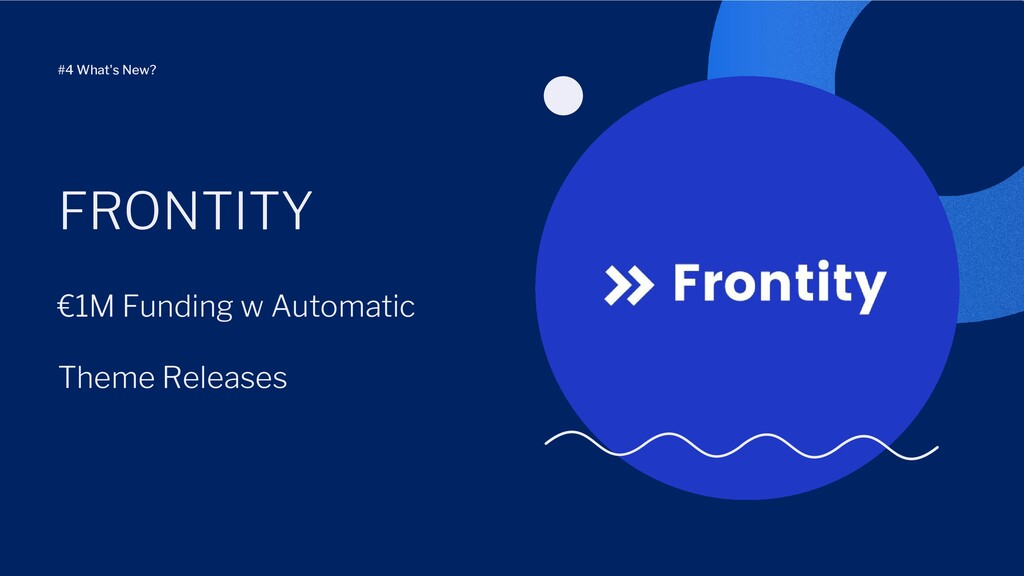 €1M Funding w Automatic Theme Releases FRONTITY...
