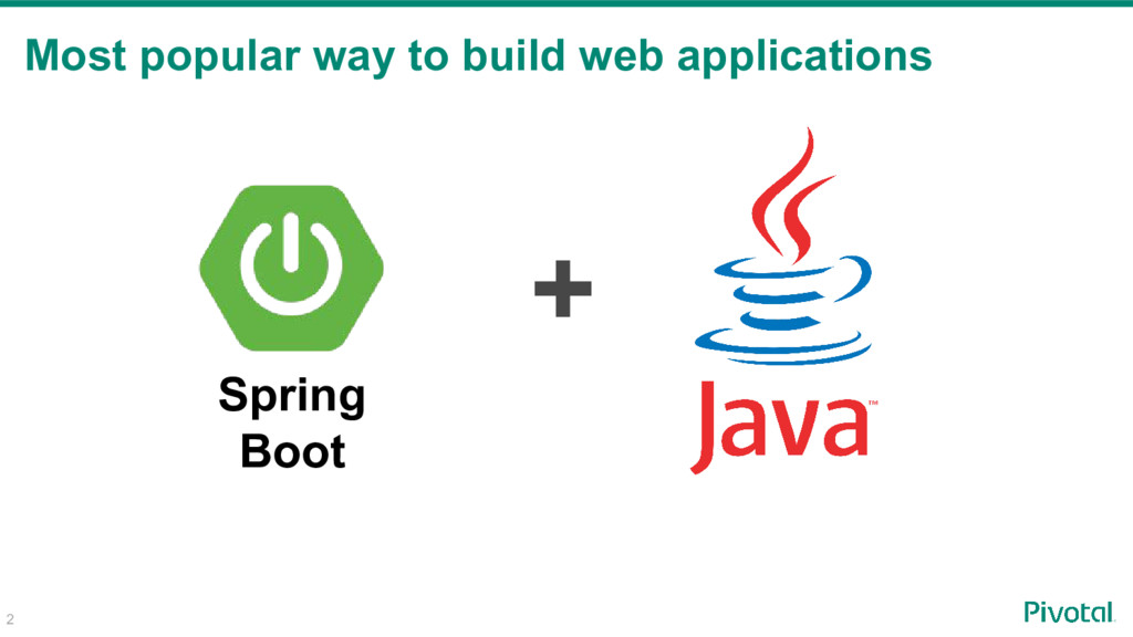2 Most popular way to build web applications + ...