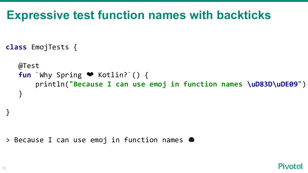 13 Expressive test function names with backtick...