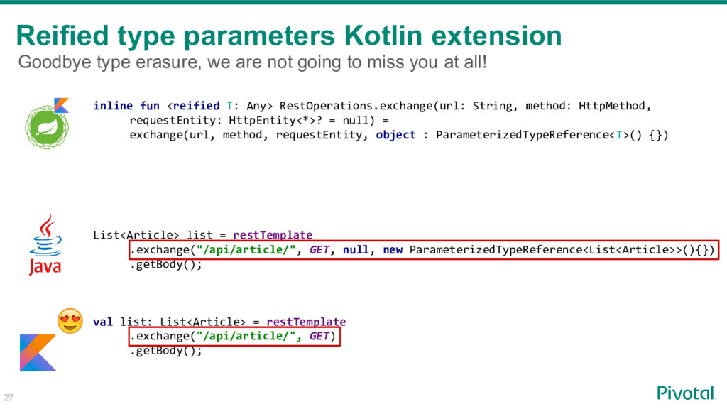 Reified type parameters Kotlin extension inline...