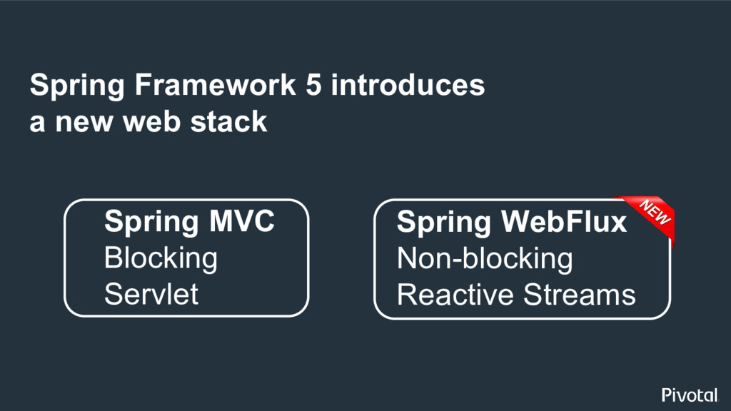 Spring Framework 5 introduces a new web stack S...