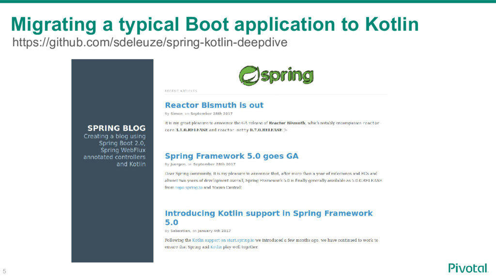 5 Migrating a typical Boot application to Kotli...