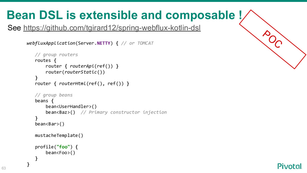 63 Bean DSL is extensible and composable ! webf...