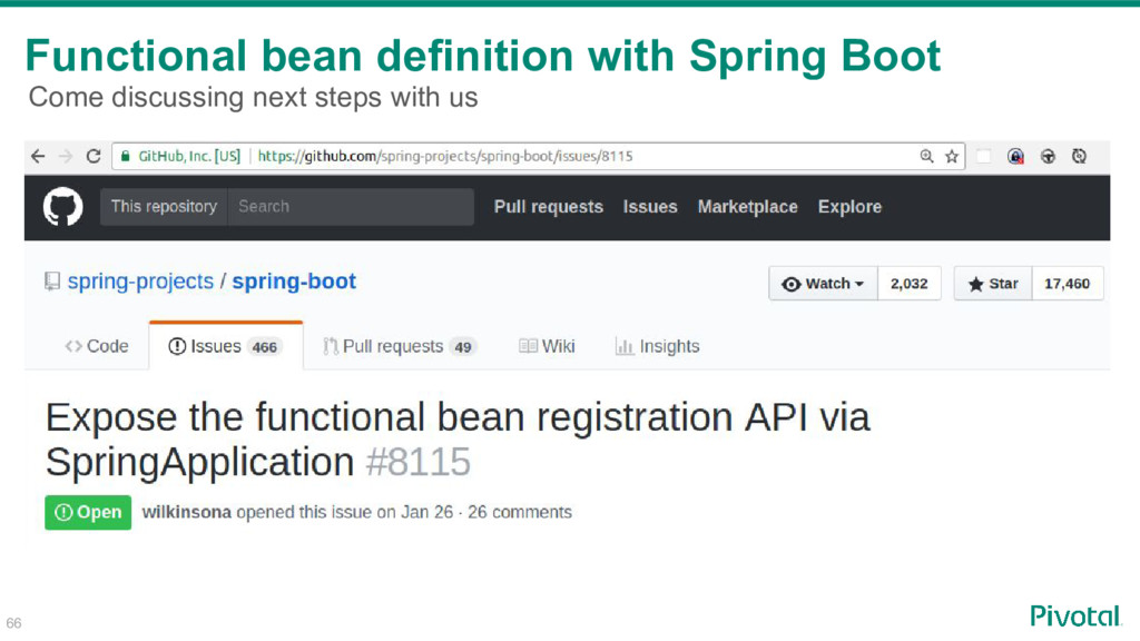 Functional bean definition with Spring Boot 66 ...