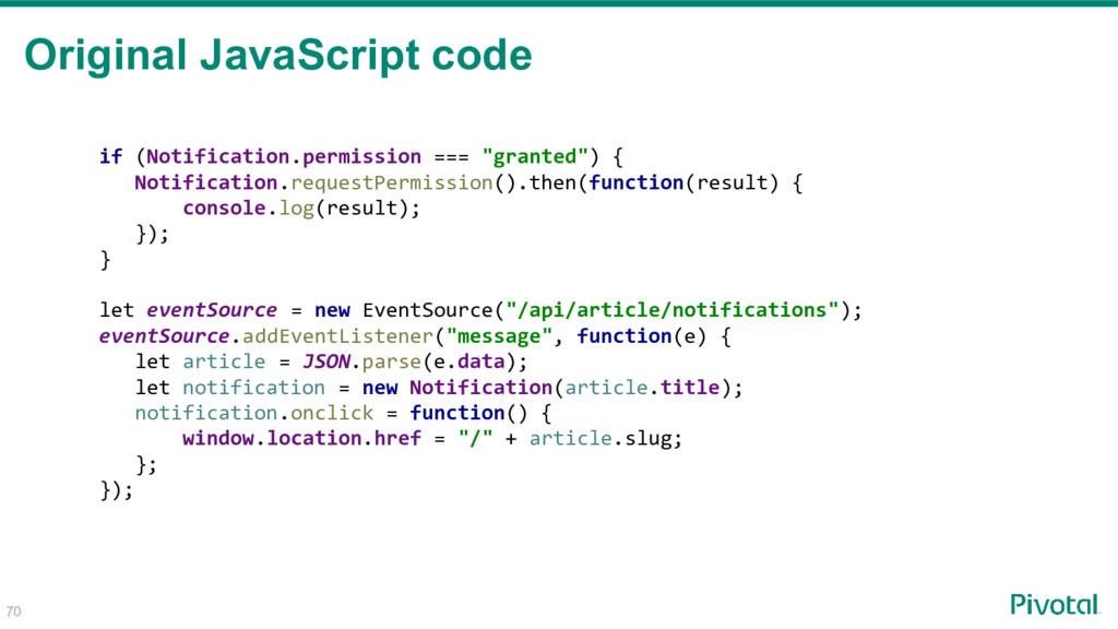70 Original JavaScript code if (Notification.pe...
