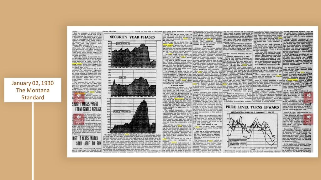 January 02, 1930 The Montana Standard
