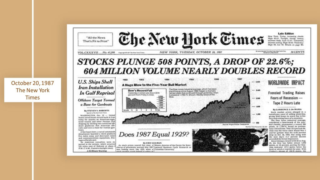 October 20, 1987 The New York Times