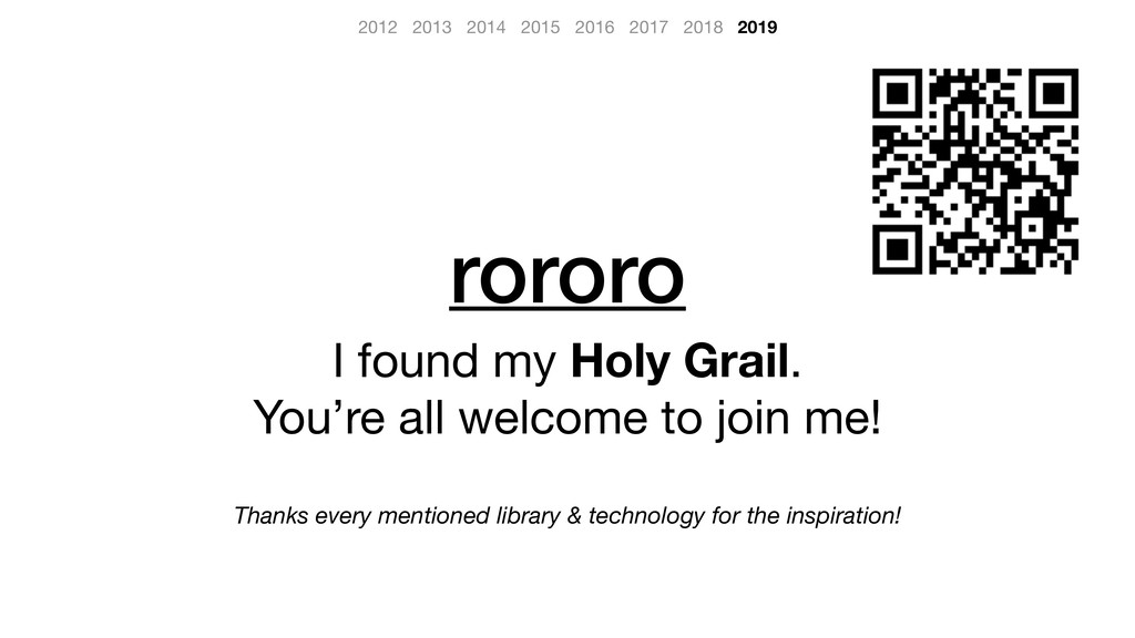 rororo I found my Holy Grail.  You're all welco...