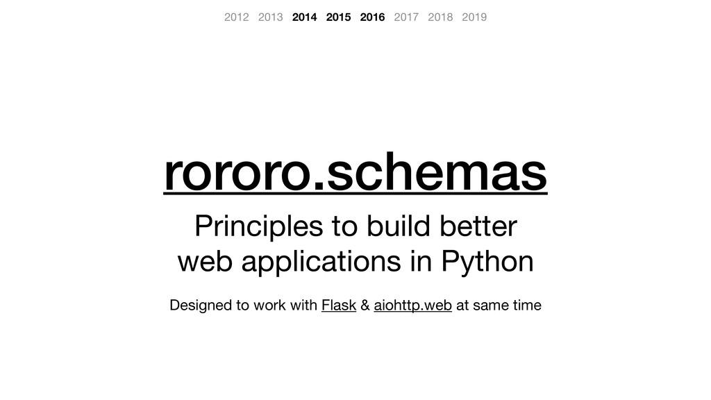 rororo.schemas Principles to build better   web...