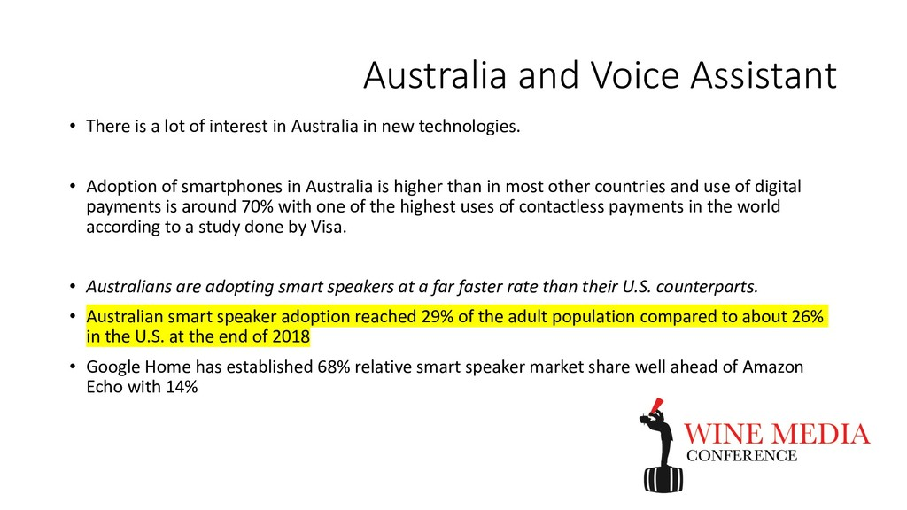 Australia and Voice Assistant • There is a lot ...