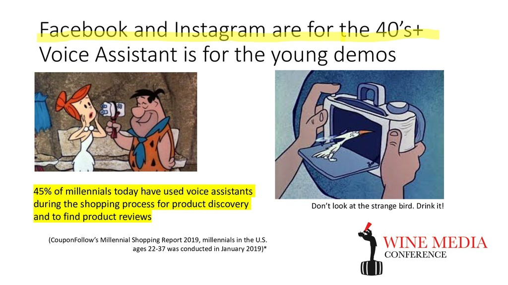 Facebook and Instagram are for the 40's+ Voice ...