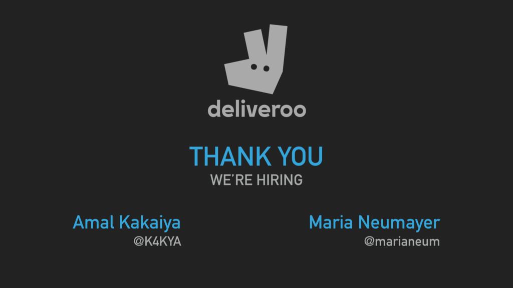 THANK YOU WE'RE HIRING Amal Kakaiya @K4KYA Mari...