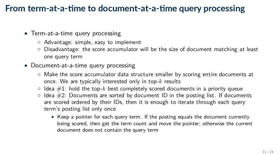 From term-at-a- me to document-at-a- me query p...