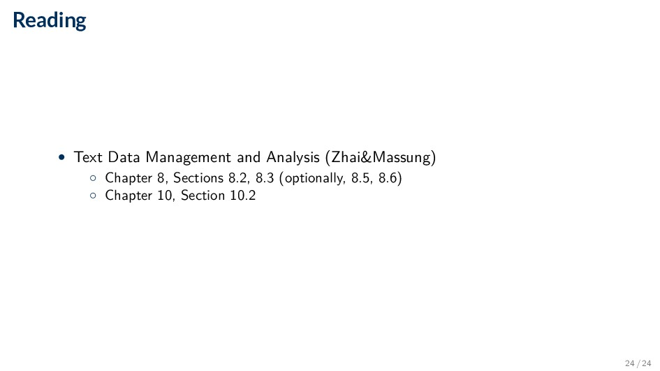 Reading • Text Data Management and Analysis (Zh...