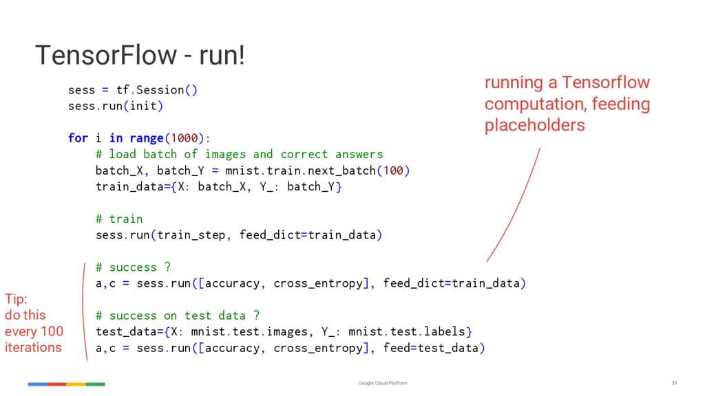 Google Cloud Platform 39 sess = tf.Session() se...
