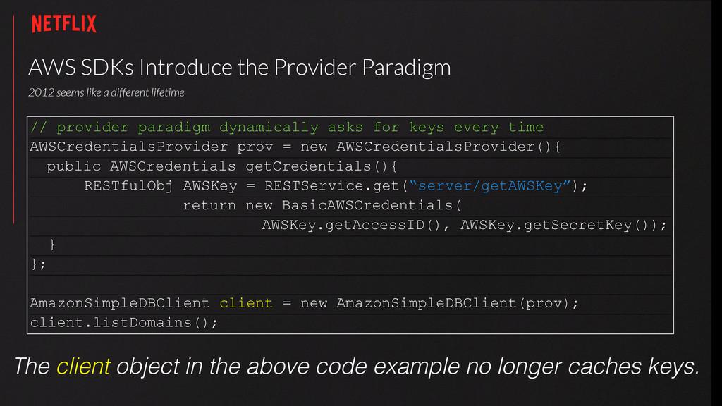 AWS SDKs Introduce the Provider Paradigm 2012 ...