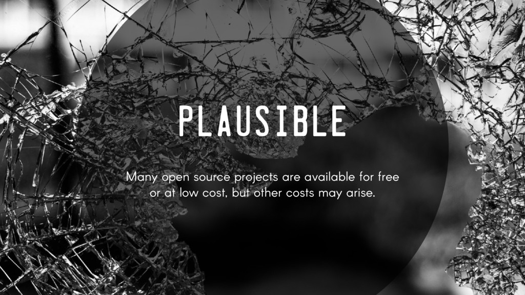 PLAUSIBLE Many open source projects are availab...