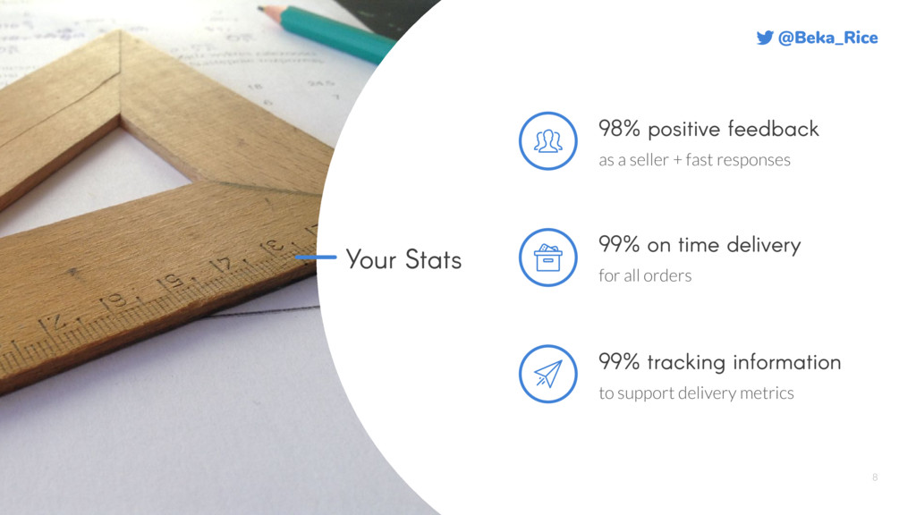 @Beka_Rice 8 Your Stats 98% positive feedback a...