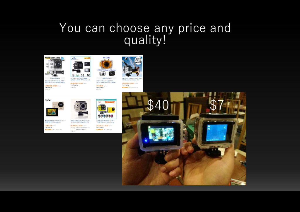 You can choose any price and quality! $40 $7