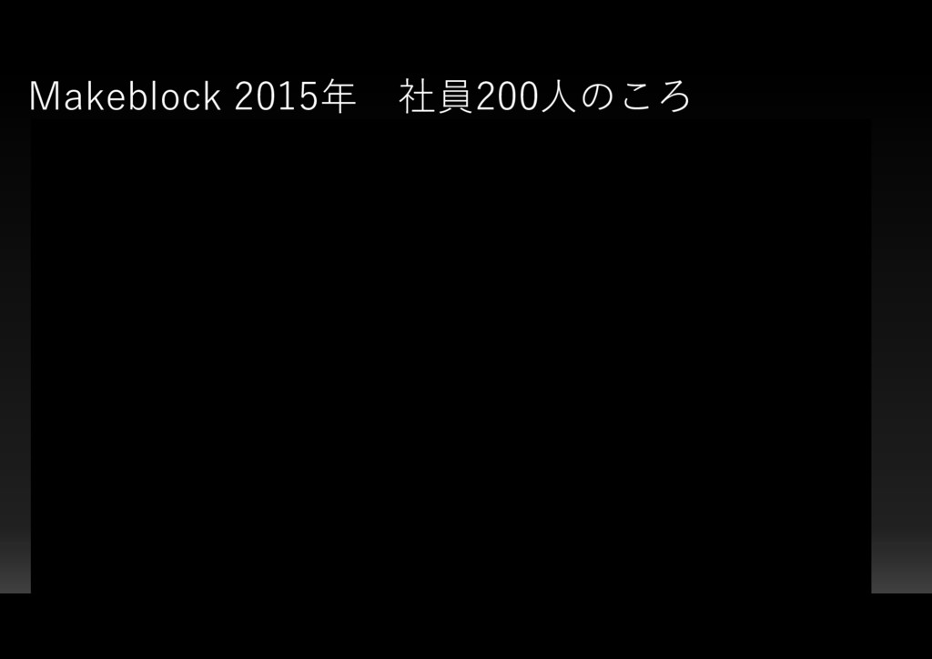 Makeblock 2015年 社員200人のころ