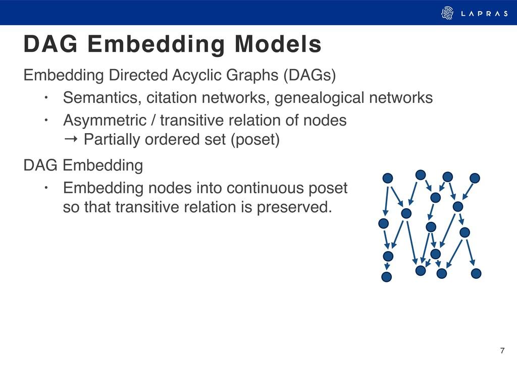 7 Embedding Directed Acyclic Graphs (DAGs) • Se...