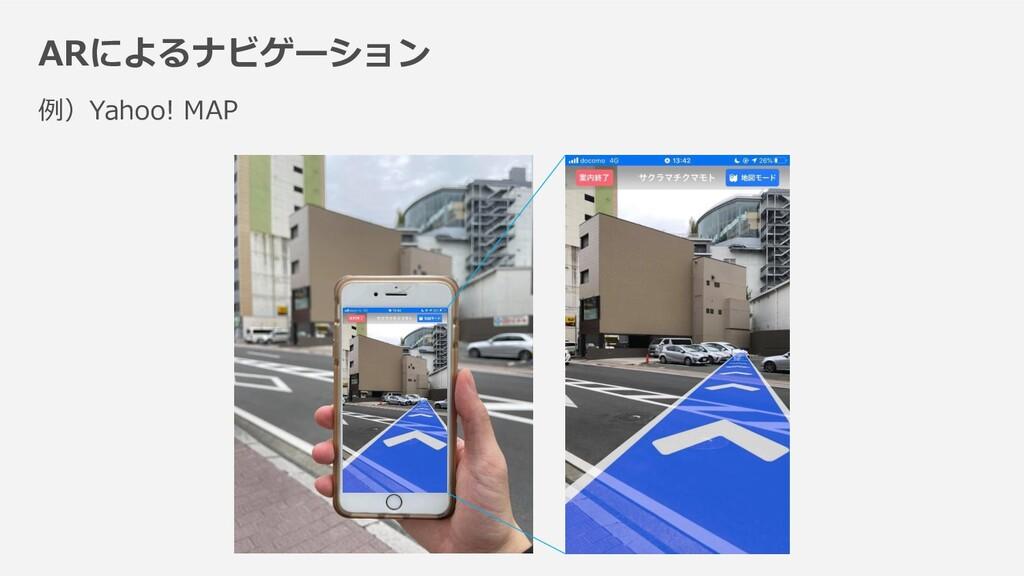 ARによるナビゲーション 例)Yahoo! MAP