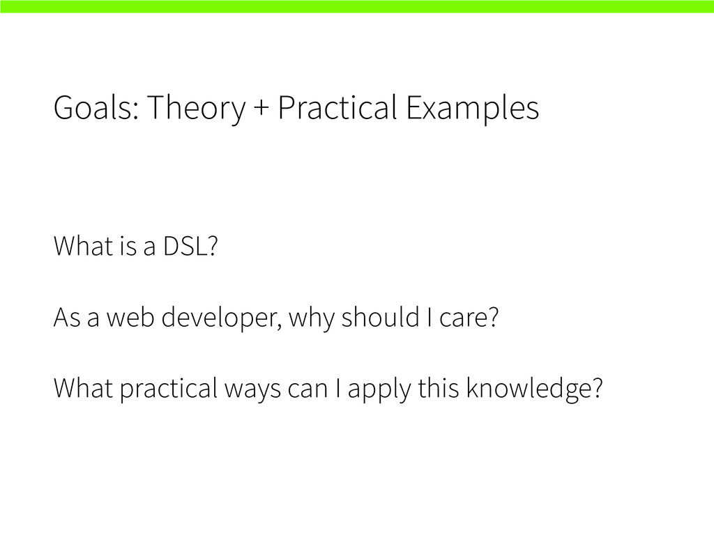 Goals: Theory + Practical Examples What is a DS...