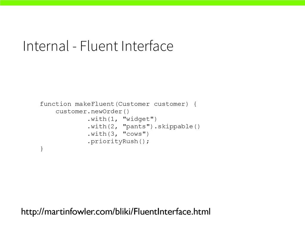 Internal - Fluent Interface http://martinfowler...