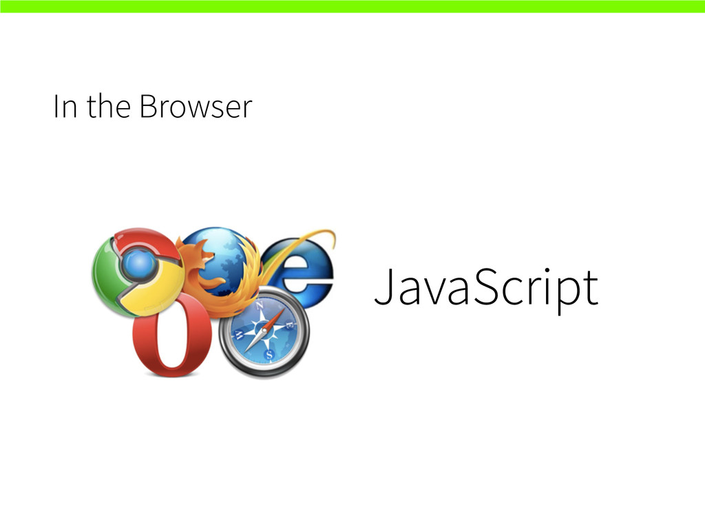 In the Browser JavaScript