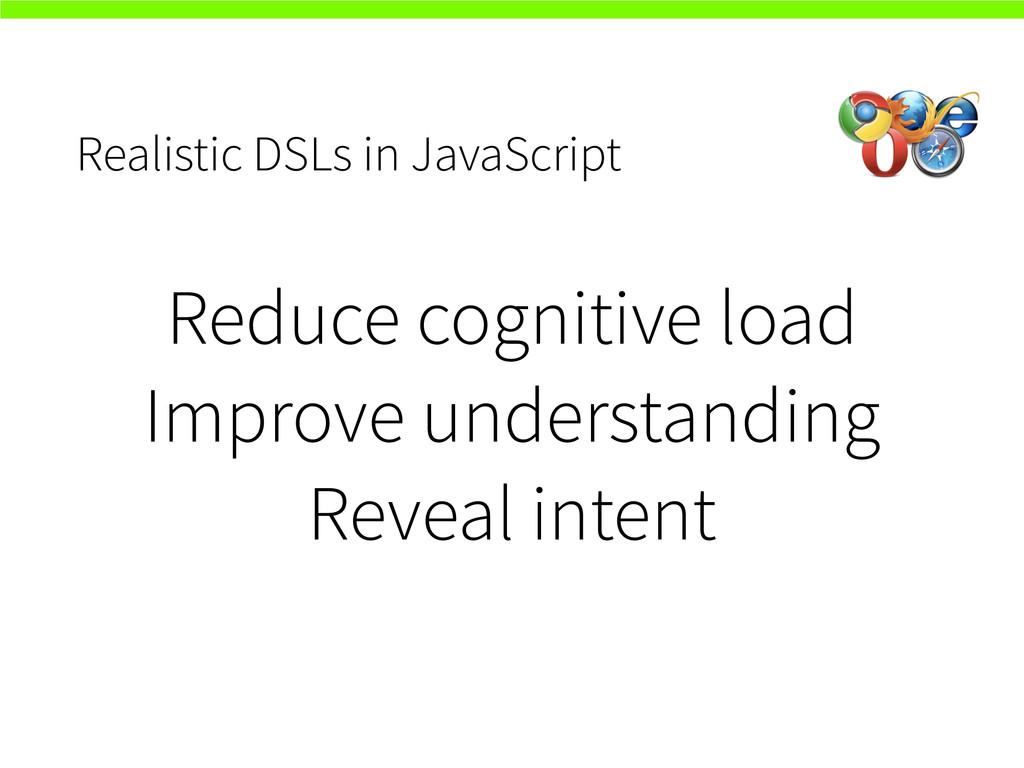 Realistic DSLs in JavaScript Reduce cognitive l...
