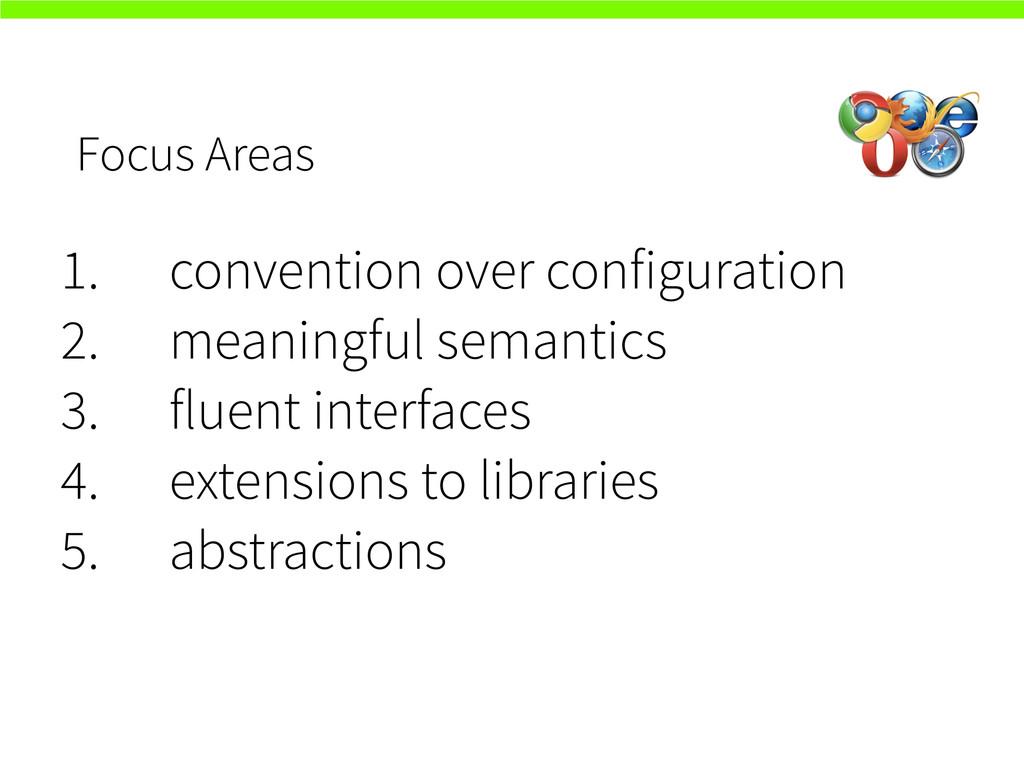 Focus Areas 1. convention over configuration 2....