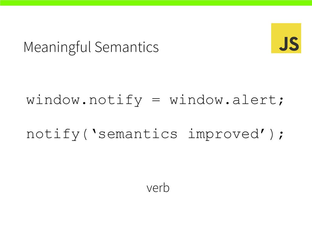 Meaningful Semantics window.notify = window.ale...