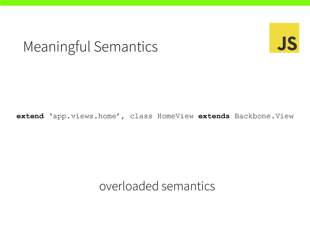 Meaningful Semantics extend 'app.views.home', c...