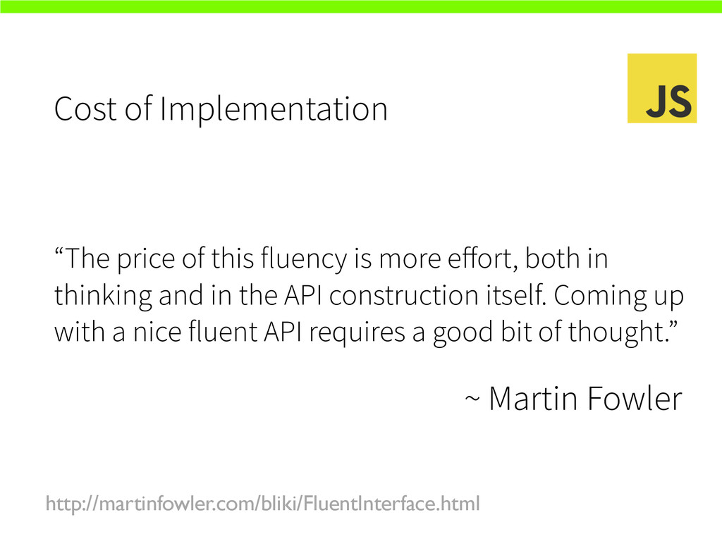 """Cost of Implementation """"The price of this fluen..."""