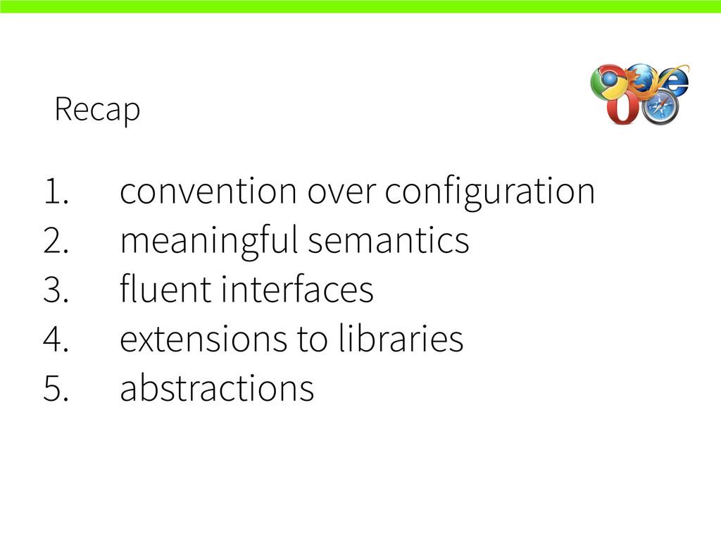 Recap 1. convention over configuration 2. meani...