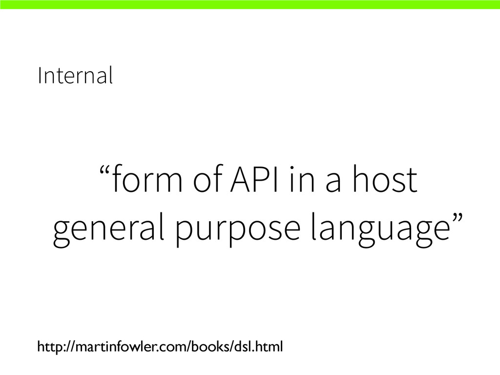"""Internal """"form of API in a host general purpose..."""