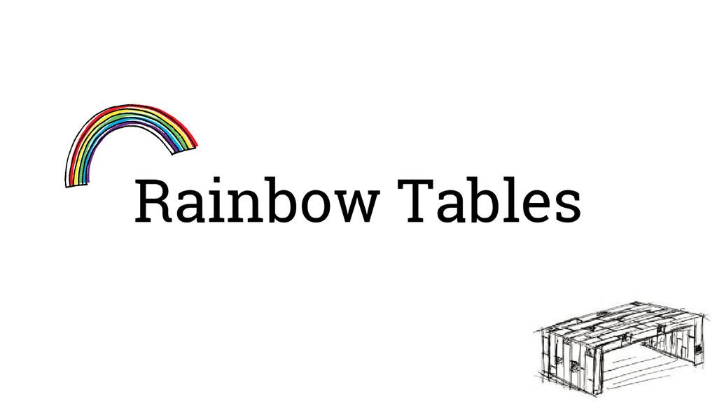Rainbow Tables