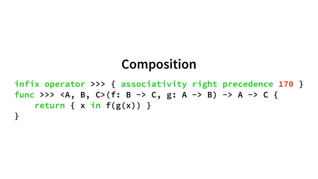 Composition infix operator >>> { associativity ...