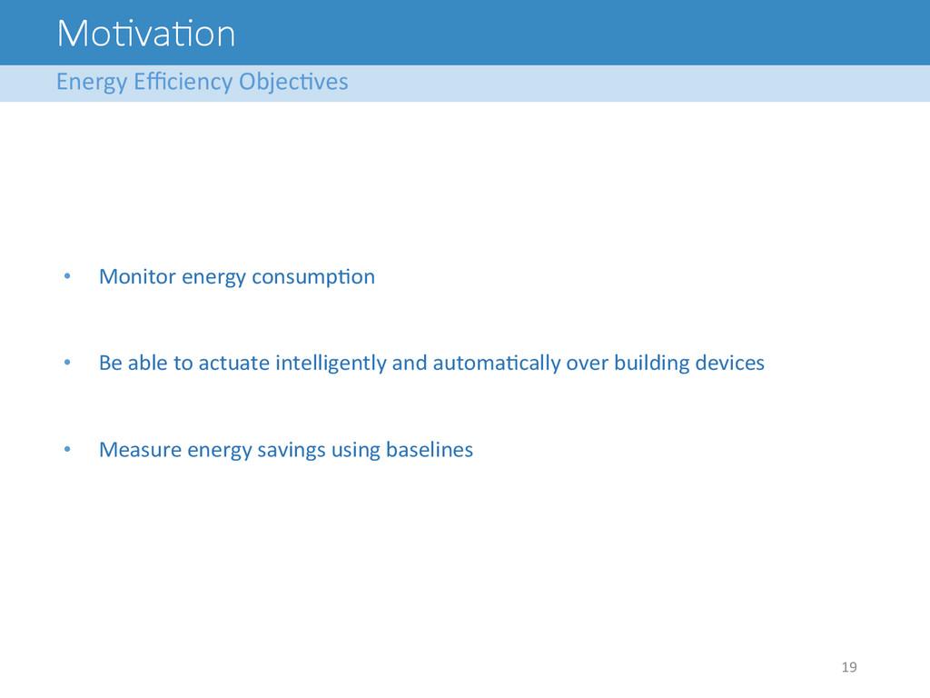 Mo<va<on Energy Efficiency ObjecAves  1...